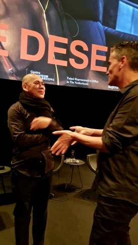 Maarten Slagboom met Tsai Ming-liang