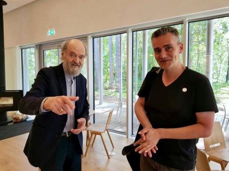 Maarten Slagboom met Arvo Pärt